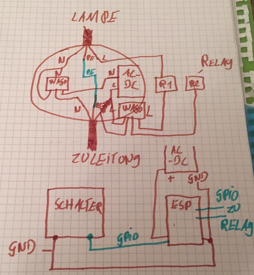 WiFi Relais Schalter einbau - Showroom - SHC Raspberry Pi SmartHome ...